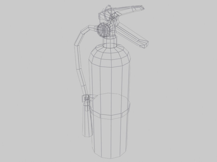 Fire Extinguisher - Game - royalty-free 3d model - Preview no. 5
