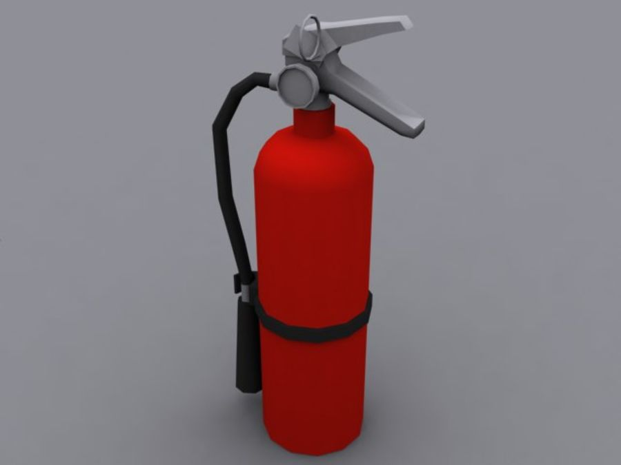 Fire Extinguisher - Game - royalty-free 3d model - Preview no. 4