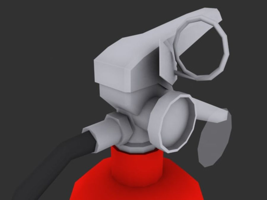 Fire Extinguisher - Game - royalty-free 3d model - Preview no. 1