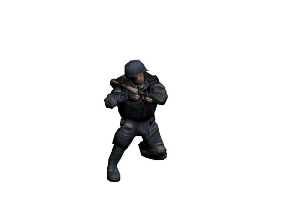 RPG-7 병사 royalty-free 3d model - Preview no. 4