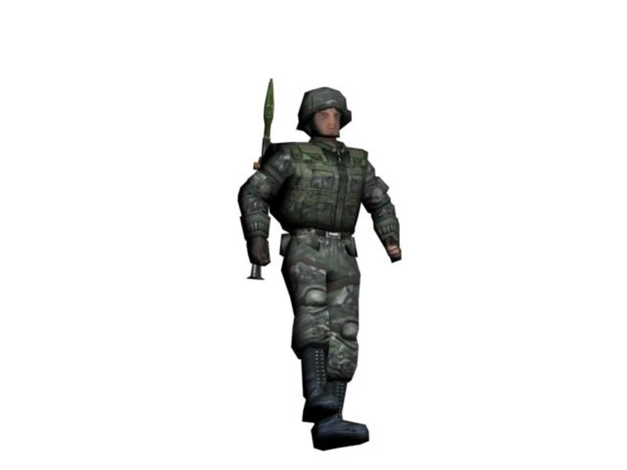 RPG-7 병사 royalty-free 3d model - Preview no. 1