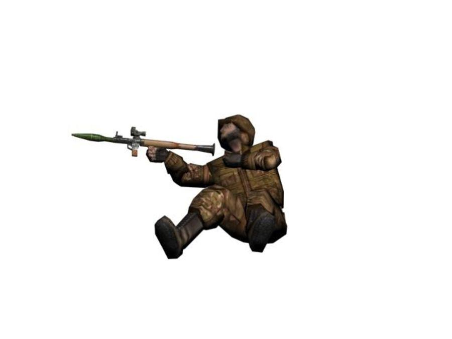RPG-7 병사 royalty-free 3d model - Preview no. 5