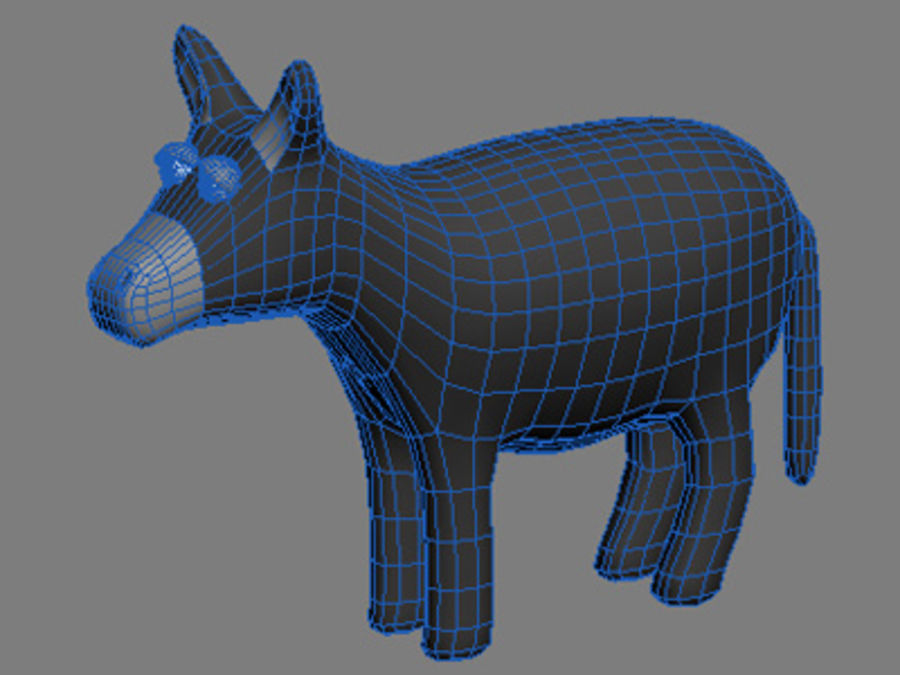 animals donkey royalty-free 3d model - Preview no. 3