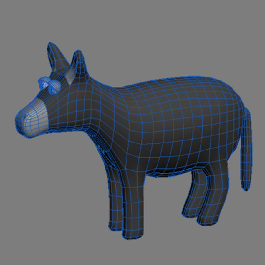 animals donkey royalty-free 3d model - Preview no. 1