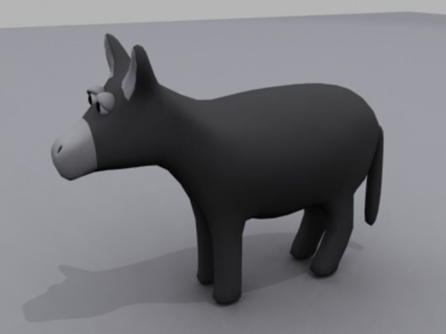 animals donkey royalty-free 3d model - Preview no. 2