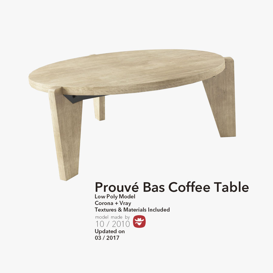 Prouve bas coffee table 3d model 19 max free3d for Coffee table 3d model