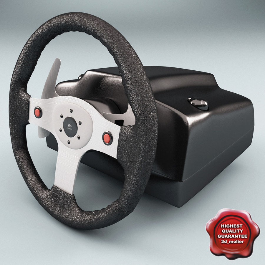 Logitech Racing Wheel royalty-free 3d model - Preview no. 1