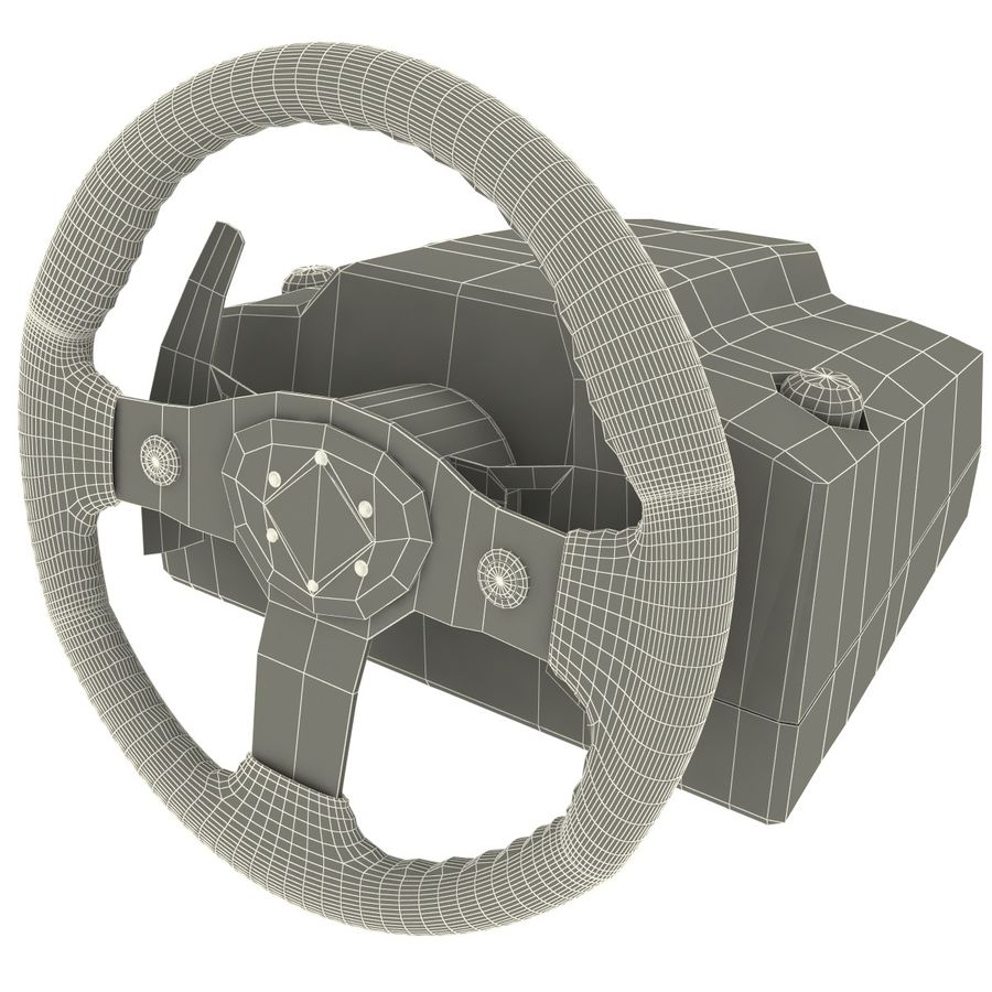 Logitech Racing Wheel royalty-free 3d model - Preview no. 8