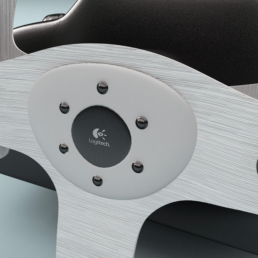 Logitech Racing Wheel royalty-free 3d model - Preview no. 5