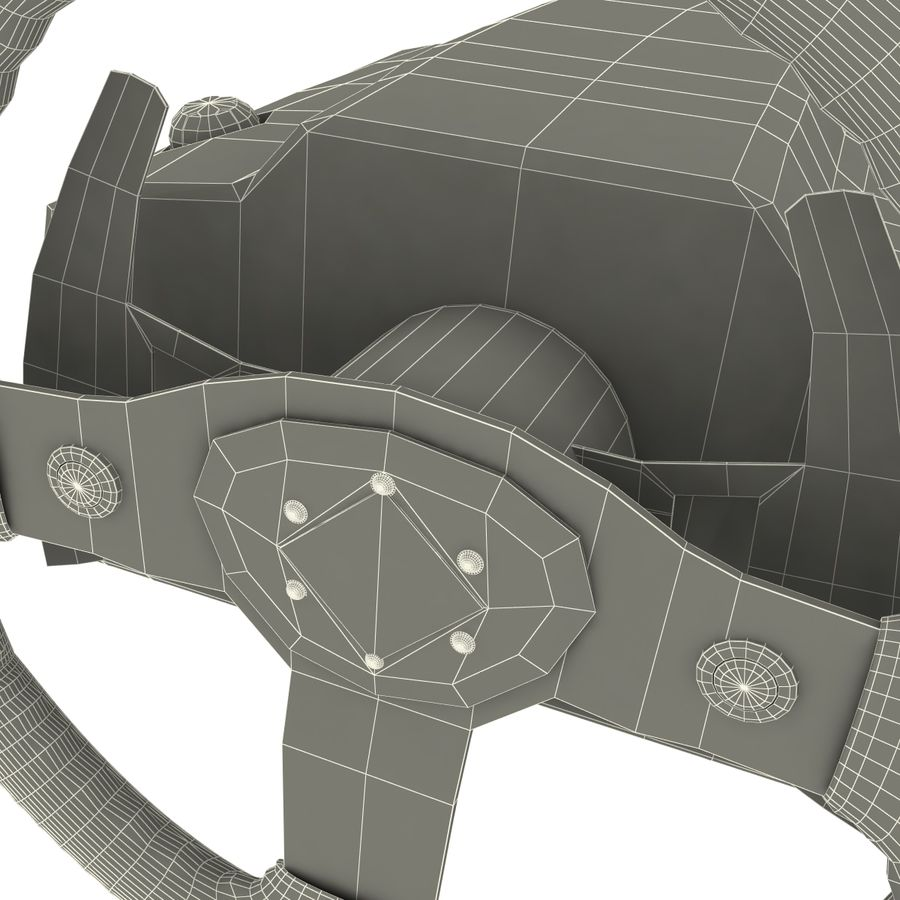 Logitech Racing Wheel royalty-free 3d model - Preview no. 9
