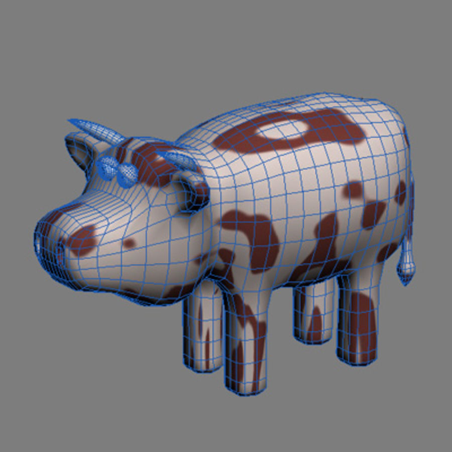 animals cow royalty-free 3d model - Preview no. 3