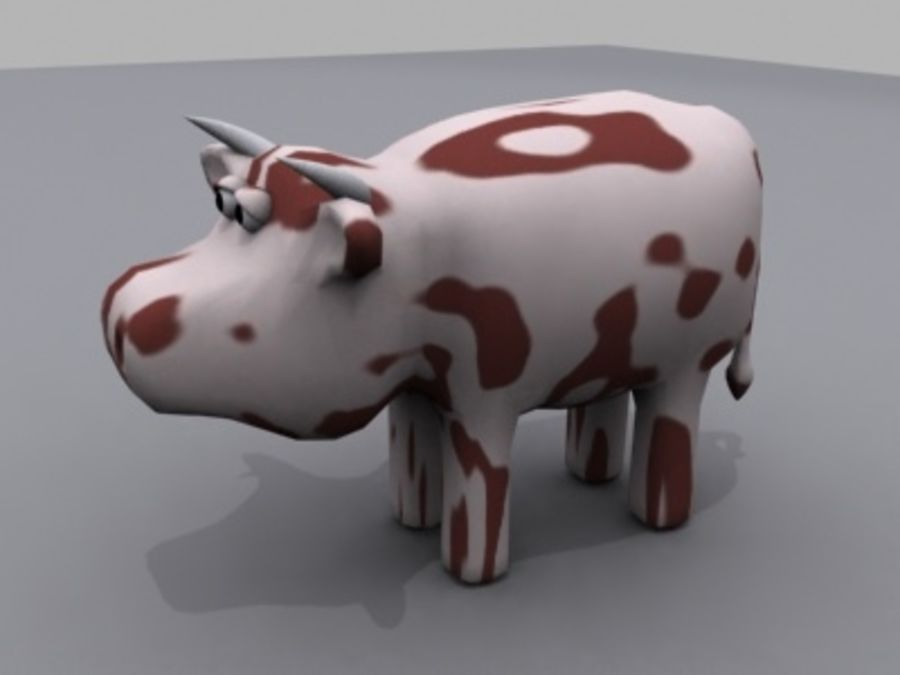 animals cow royalty-free 3d model - Preview no. 1