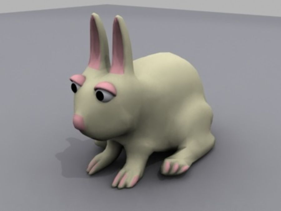 animals rabbit royalty-free 3d model - Preview no. 1