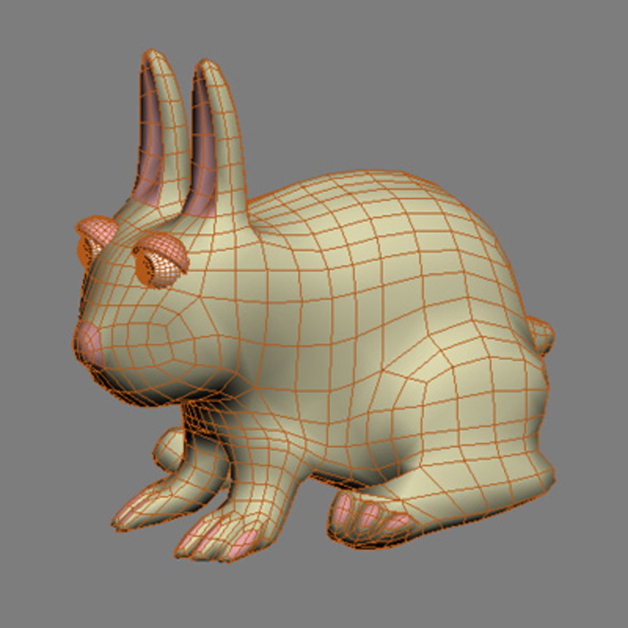 animals rabbit royalty-free 3d model - Preview no. 3