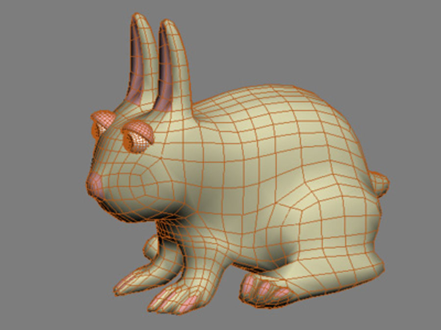 animals rabbit royalty-free 3d model - Preview no. 2