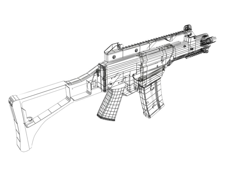 G36C royalty-free 3d model - Preview no. 2