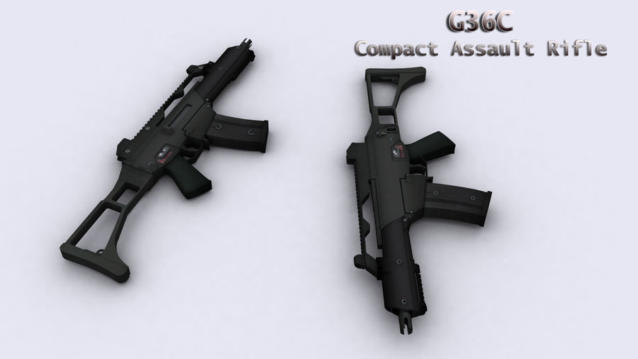 G36C royalty-free 3d model - Preview no. 1