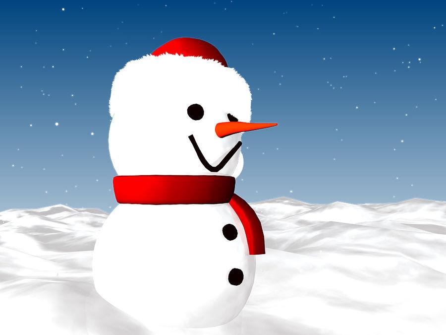 Snowman royalty-free 3d model - Preview no. 5