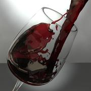 Wine Pouring 01 3d model