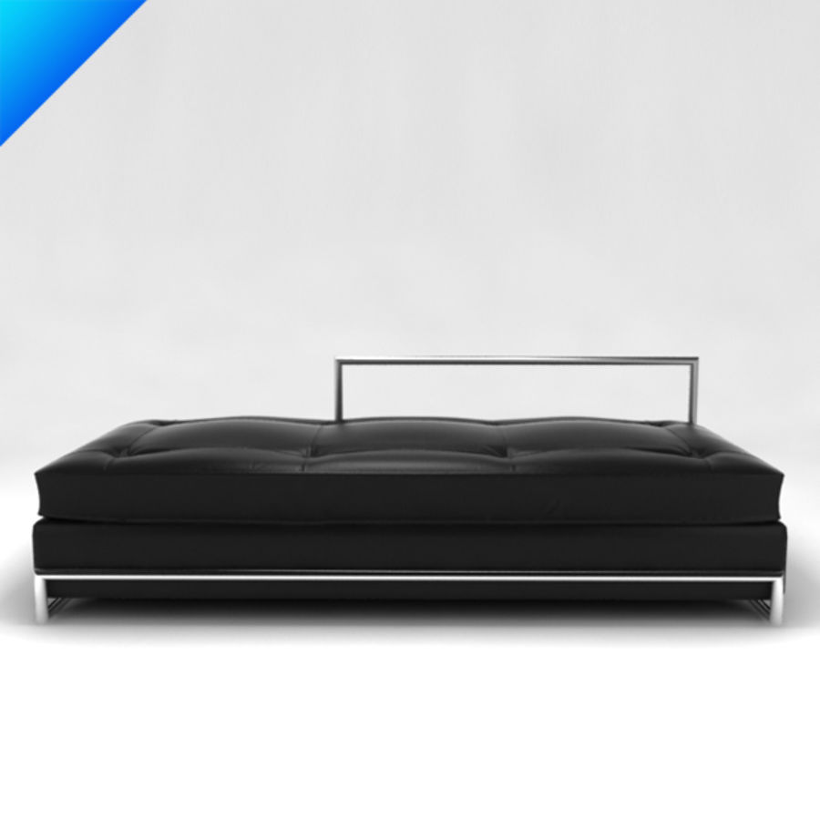 Eileen Gray Day Bed (leather) royalty-free 3d model - Preview no. 2