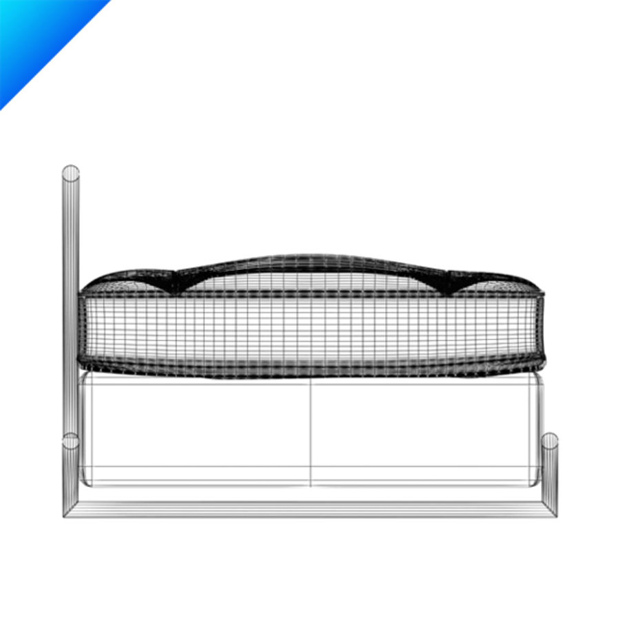 Eileen Gray Day Bed (leather) royalty-free 3d model - Preview no. 7