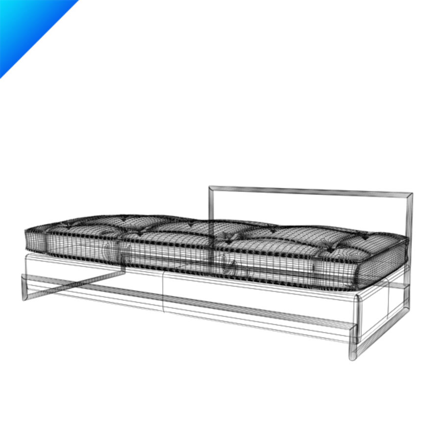 Eileen Gray Day Bed (leather) royalty-free 3d model - Preview no. 4