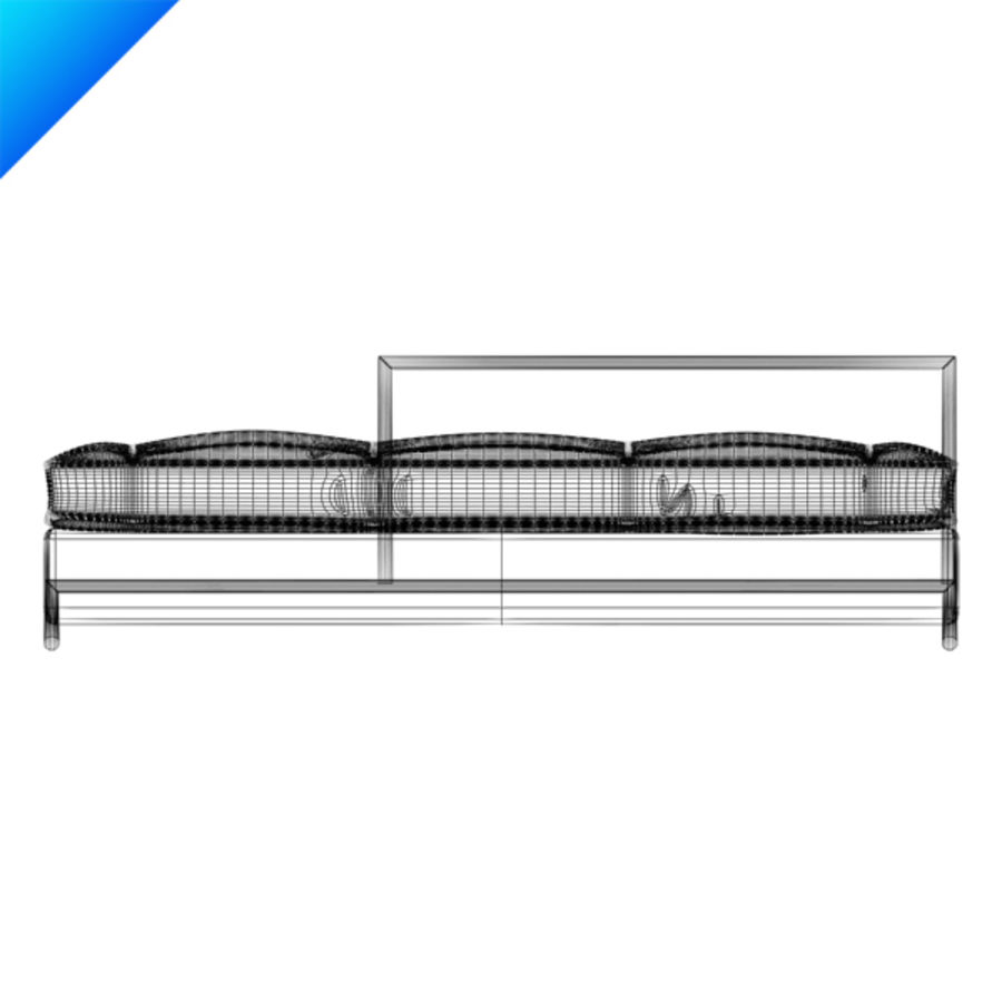 Eileen Gray Day Bed (leather) royalty-free 3d model - Preview no. 6