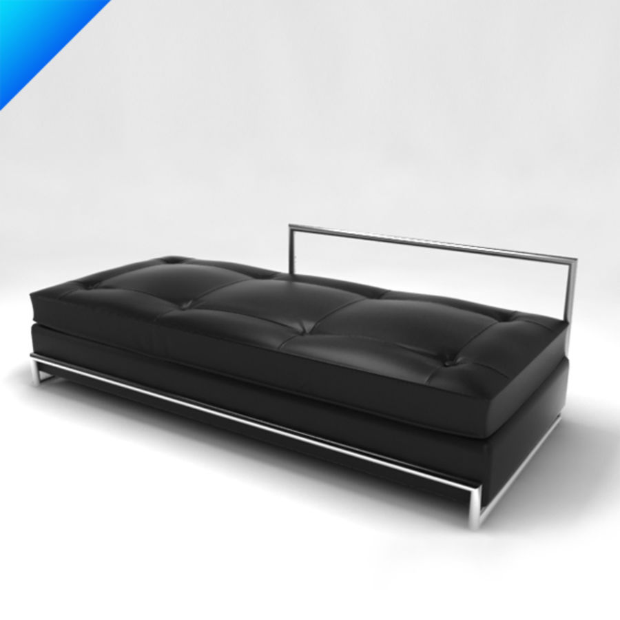 Eileen Gray Day Bed (leather) royalty-free 3d model - Preview no. 1