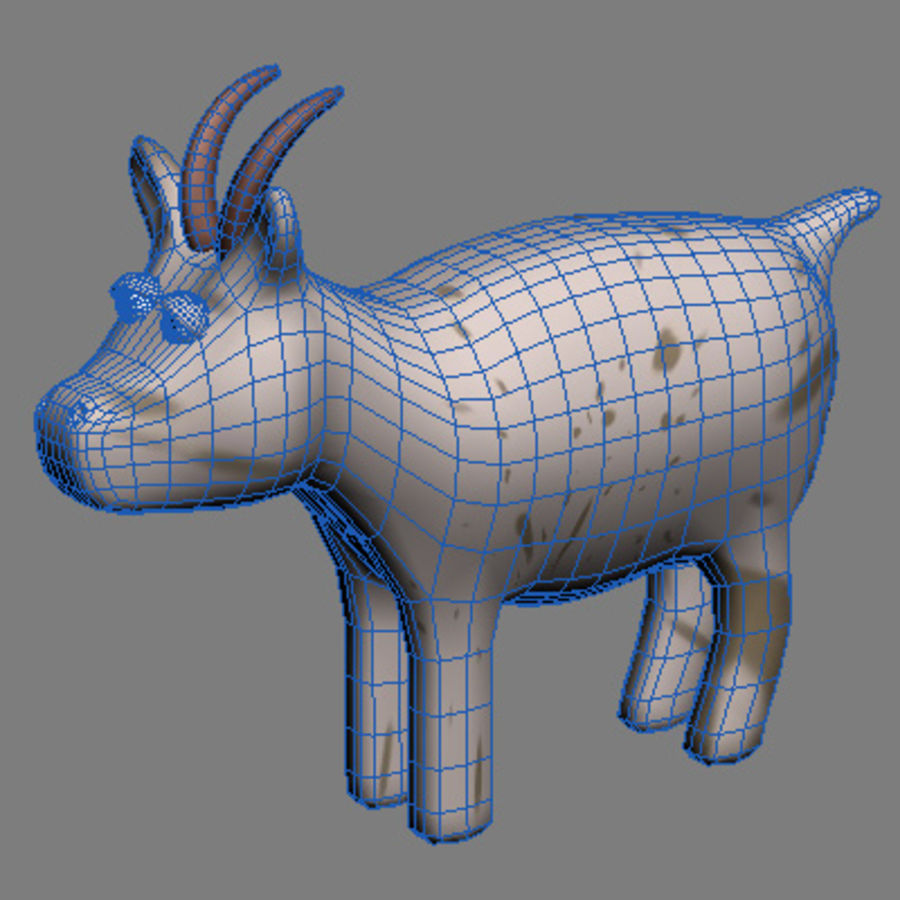 animals goat royalty-free 3d model - Preview no. 3