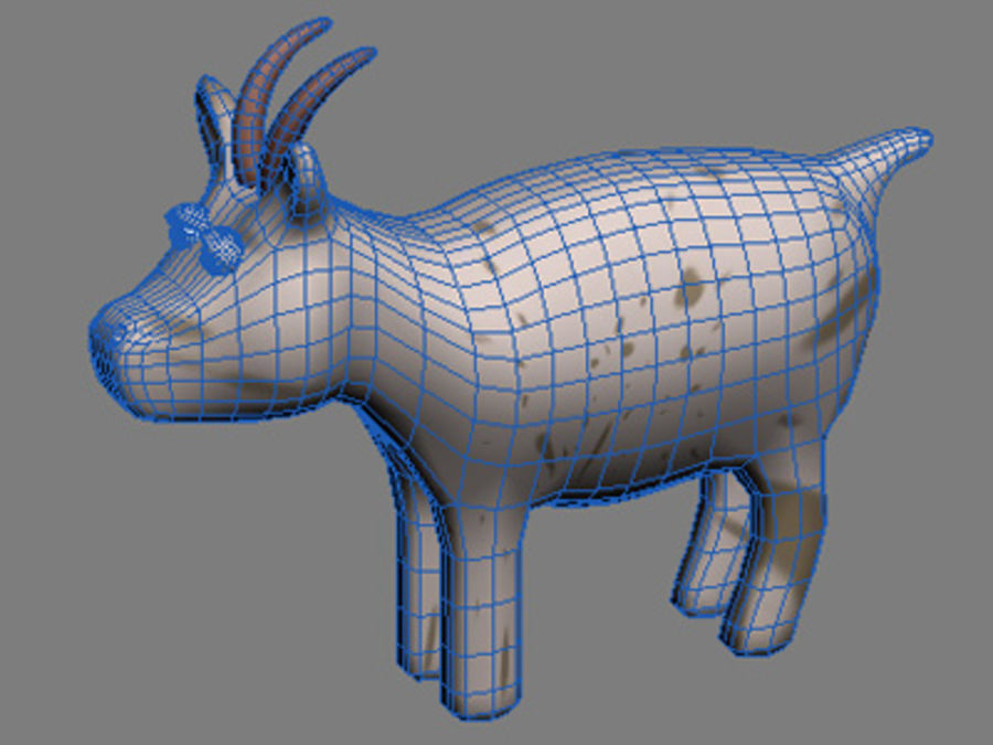 animals goat royalty-free 3d model - Preview no. 2