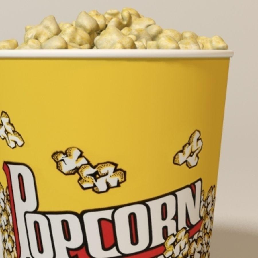 popcorns royalty-free 3d model - Preview no. 3