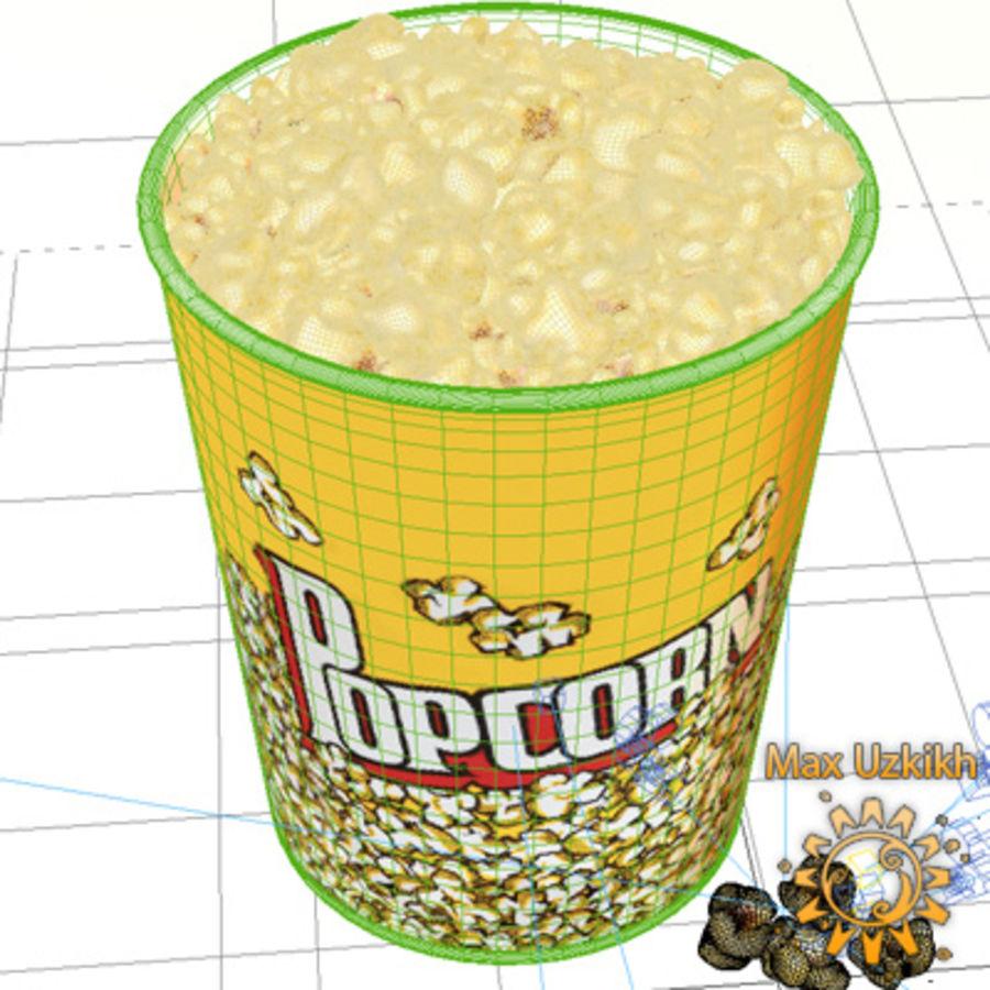 popcorns royalty-free 3d model - Preview no. 8