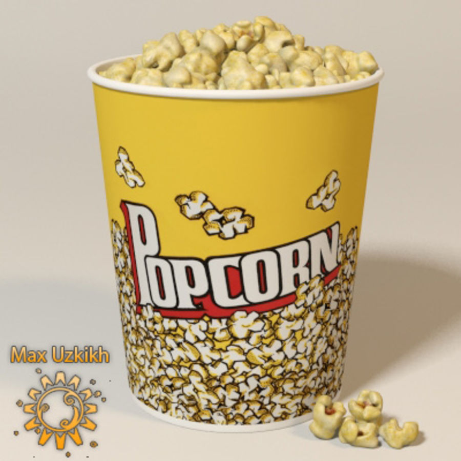 popcorns royalty-free 3d model - Preview no. 1