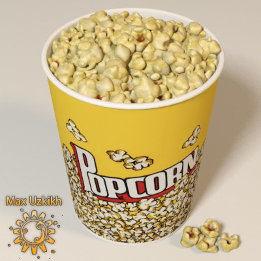 popcorns royalty-free 3d model - Preview no. 2
