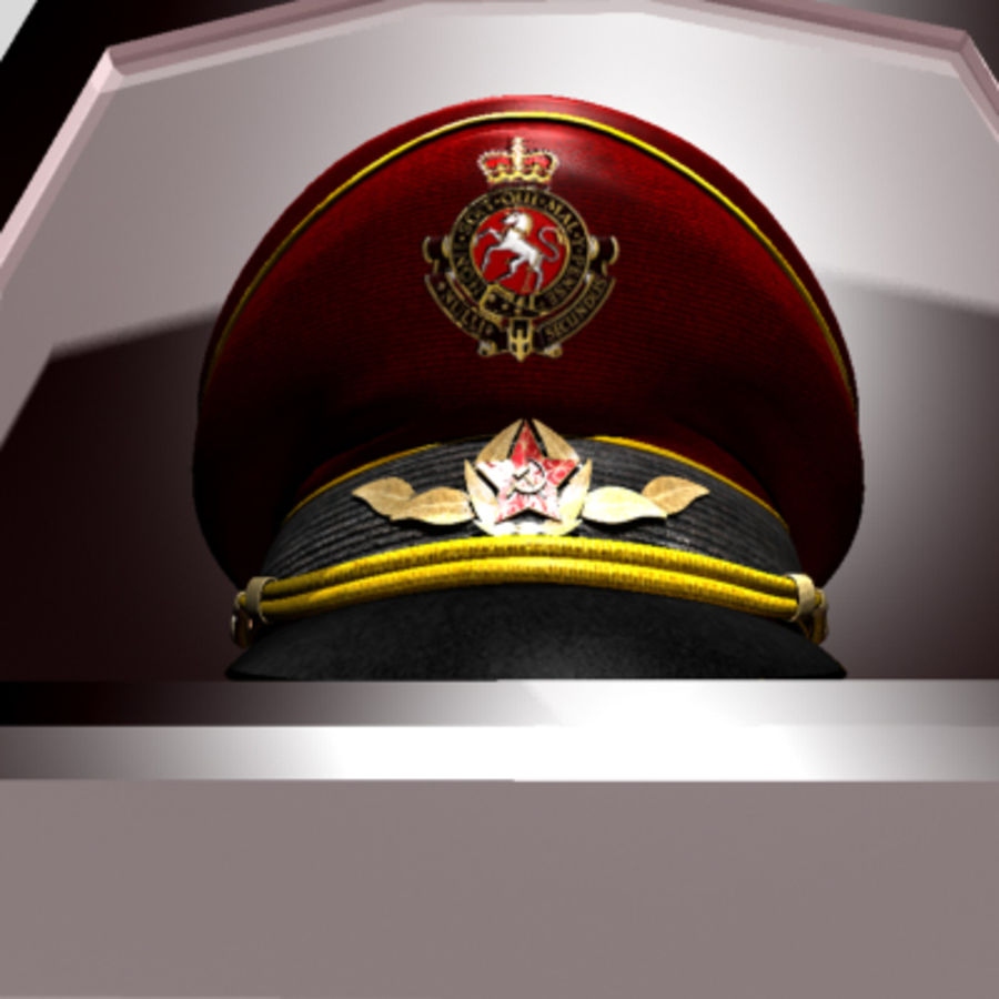 General hat royalty-free 3d model - Preview no. 12
