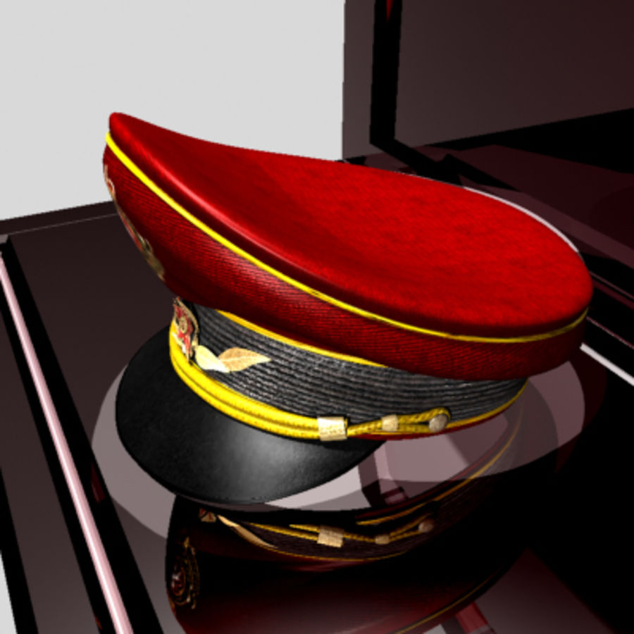 General hat royalty-free 3d model - Preview no. 9