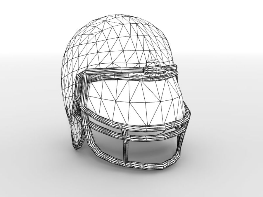 Футбольный шлем royalty-free 3d model - Preview no. 2