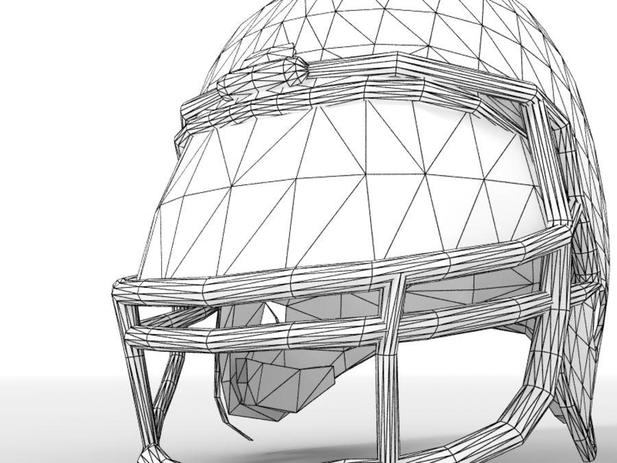 Футбольный шлем royalty-free 3d model - Preview no. 10
