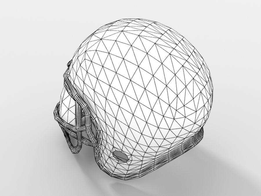 Футбольный шлем royalty-free 3d model - Preview no. 14
