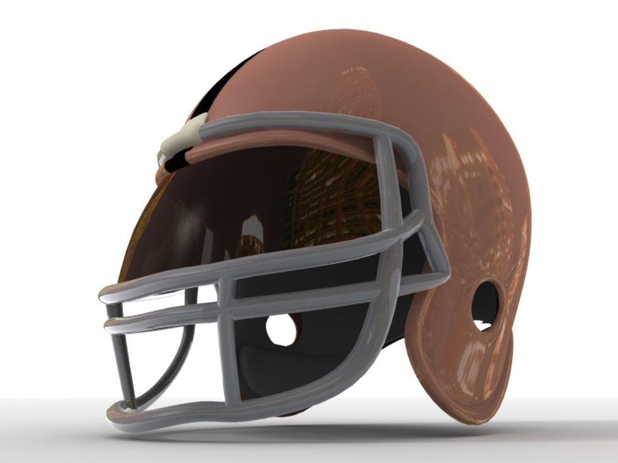 Футбольный шлем royalty-free 3d model - Preview no. 7