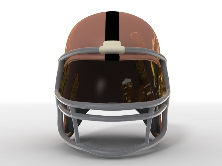Футбольный шлем royalty-free 3d model - Preview no. 11