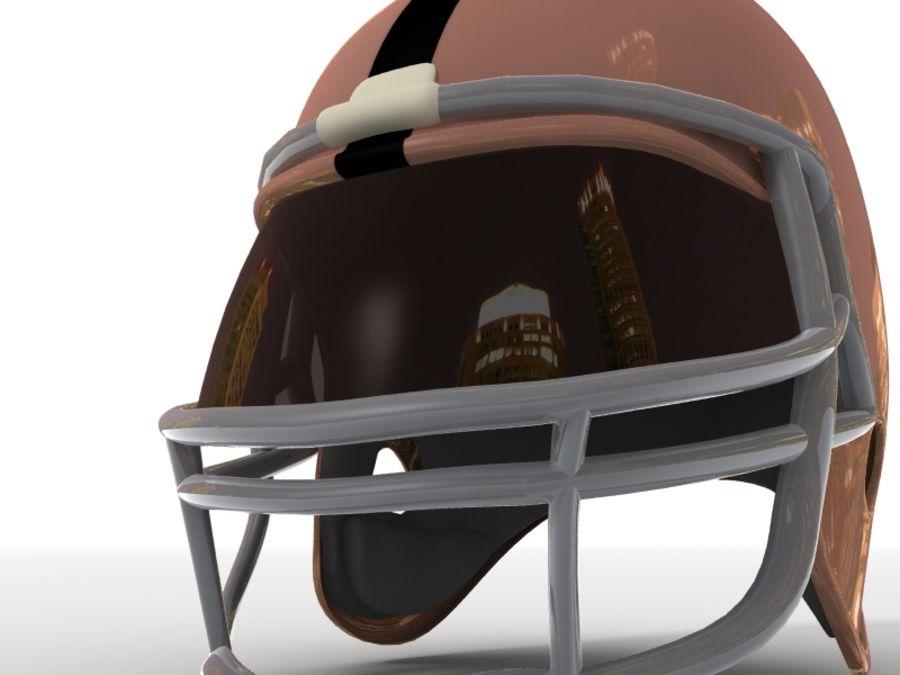 Футбольный шлем royalty-free 3d model - Preview no. 9