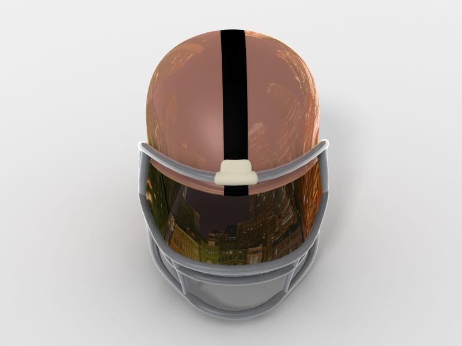 Футбольный шлем royalty-free 3d model - Preview no. 5