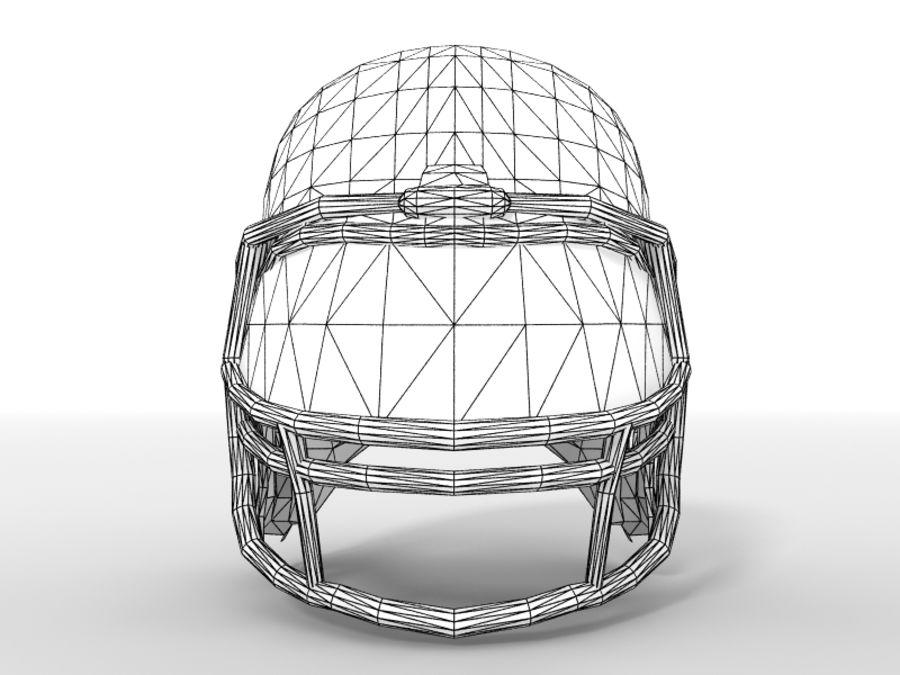 Футбольный шлем royalty-free 3d model - Preview no. 12