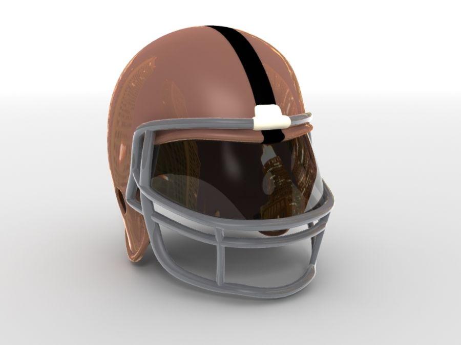 Футбольный шлем royalty-free 3d model - Preview no. 1
