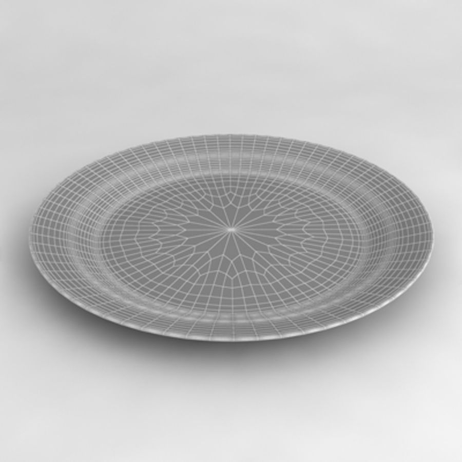 Dish_01 royalty-free 3d model - Preview no. 4