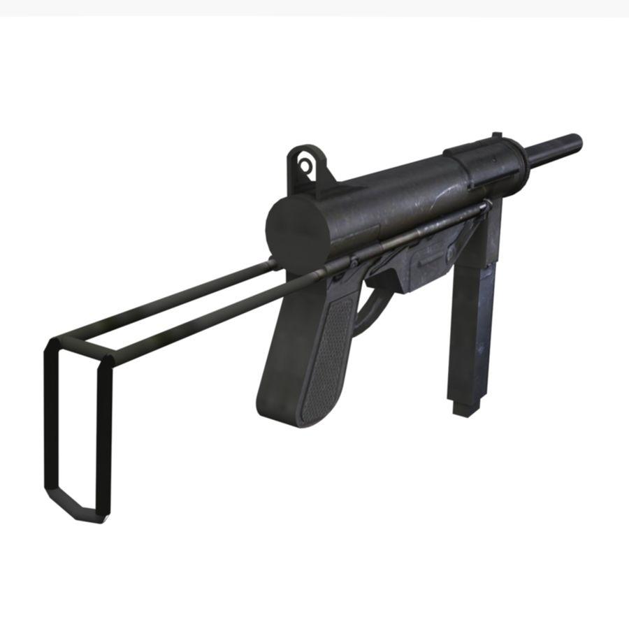 M3 Grease Gun royalty-free 3d model - Preview no. 3