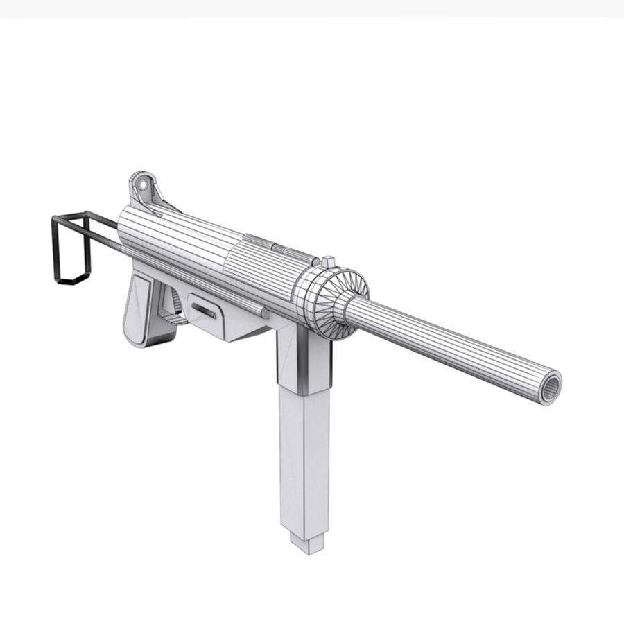 M3 Grease Gun royalty-free 3d model - Preview no. 2