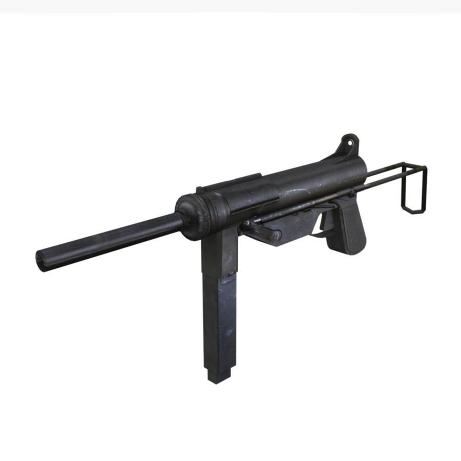 M3 Grease Gun royalty-free 3d model - Preview no. 5