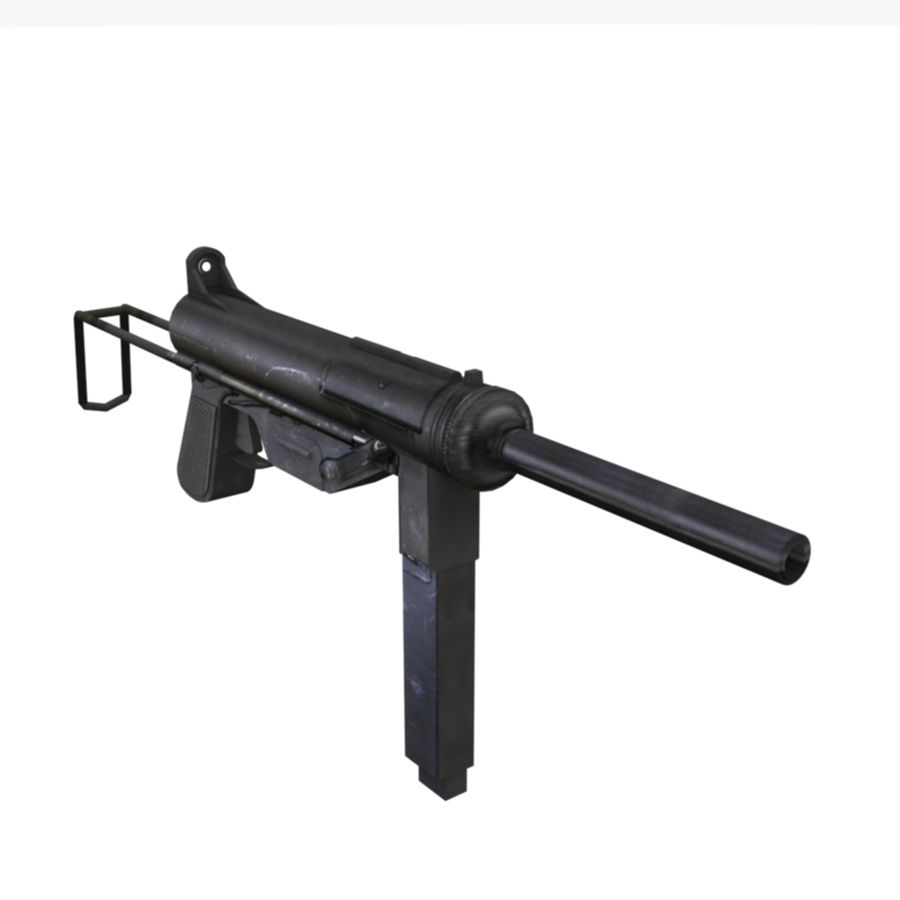 M3 Grease Gun royalty-free 3d model - Preview no. 1